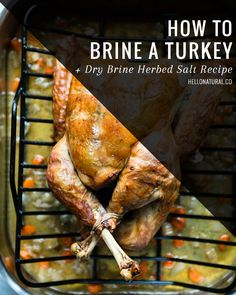 How To Brine a Turkey   Dry Brine Herbed Salt Recipe