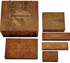 Sweet pyrography boxes