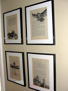 Harry Potter book page art - Upcycled book page art prints - Home decor - Great for framing - Buy 3 get 1 free. $5.00, via Etsy.
