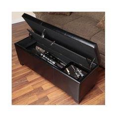 Concealment-5-Gun-Storage-Bench-Hidden-Cabinet-Safe-Lock-Hunting-Rifle-Shotgun