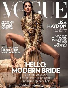 Lisa Haydon Sizzles Cover Photos On Vogue India Magazine November 2014