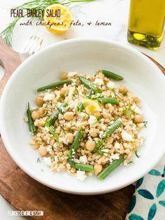 Chickpea and Barley Salad with Feta and Lemon