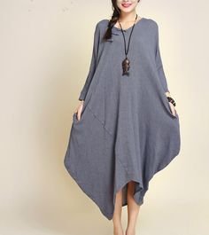 http://de.dawanda.com/product/71957563-blau-grau-baumwolle-leinen-asymmetrie-maxikleid
