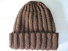 Ravelry: Basic Crochet Ribbed Hat pattern by Rebekah Thompson