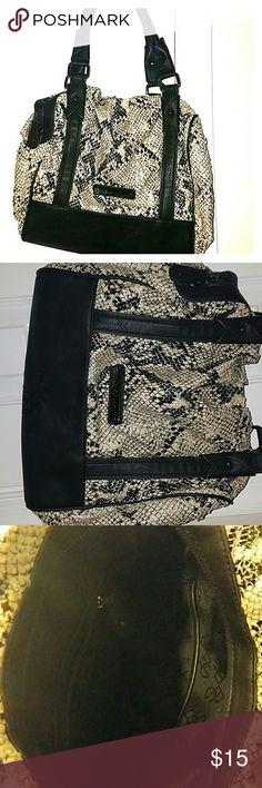 BCBGENERATION Faux Snakeskin Handbag!! Snakeskin White and Black Handbag BCBGeneration Bags Shoulder Bags