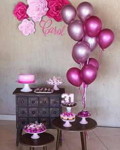 Party Tropical Decorations Simple 68 Ideas For 2019 Birthday Table, 21st Birthday, Birthday Party Themes, Girl Birthday, Birthday Ideas, Birthday Balloon Decorations, Birthday Balloons, Baby Shower Decorations, Deco Table