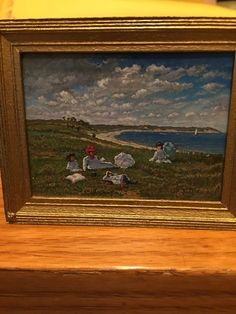 Paul Saltarelli, IGMA artisan -  Oil Painting, At the Beach after artist William Merit Chase, 1997