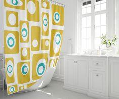 Items similar to Print Shower Curtain Retro Shower Curtain Mid Century Modern Shower Curtain on Etsy Mid Century Modern Rugs, Curtains, Shower Curtain, Retro Shower Curtain, Modern Prints, Modern Shower, Curtains Uk, Retro Pillows, Cool Curtains