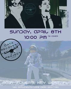 For one night only! We are taking the @datarecovprojct to Mary Ellen's in Key West on April 8th. Would love to see my fans from way down south. #comeflywithme