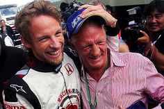 Jenson Button (GBR) Honda celebrates with his Father John Button (GBR).  Formula One World Championship, Rd 13, Hungarian Grand Prix, Race, Budapest, Hungary, 6 August 2006