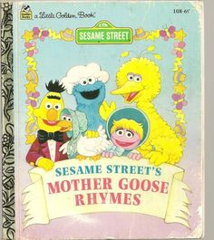 SESAME STREET'S MOTHER GOOSE RHYMES Little Golden Book #108-69