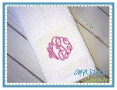 Pile Drop Squre Embroider Design