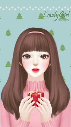 A gift ? Cute Kawaii Girl, Kawaii Anime Girl, Anime Art Girl, Cartoon Girl Images, Cute Cartoon Girl, Cute Girl Drawing, Cute Drawings, Girly M, Lovely Girl Image