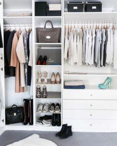 Best Walk In Closet Designs White Gray