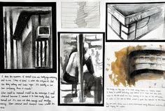 A* gcse art coursework: sense of place Canon Eos 100d, Canon 700d, A Level Art Sketchbook, Sketchbook Pages, Sketchbook Ideas, Architecture Sketchbook, Art And Architecture, Mixed Media Photography, Art Photography