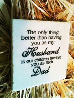 Husband/Dad Stone Plaque With Stand by DesignsBySyds on Etsy, $15.00