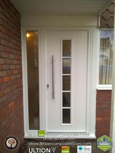 White Solidor Timber Composite Doors with Ultion Locks Solidor Timber Composite . Porch Doors, Front Door Entrance, House Front Door, House Doors, Entry Doors, Entryway, External Front Doors, Composite Front Door, Exterior Doors With Glass