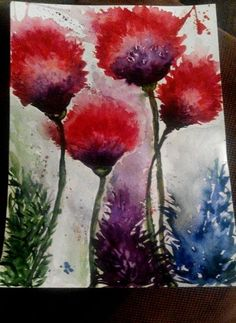 Aquarelle flower