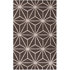 Jaipur City Arkley Major Brown & Fog Hand-Tufted Rug ($108) ❤ liked on Polyvore featuring home, rugs, brown rug, geometric area rug, plush area rugs, brown area rugs and plush rugs