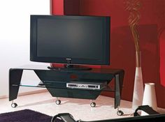 Gerry Glass TV Stand by LA Vetreria, Italy - $2,350.00