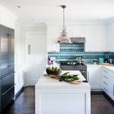 Decorative back splash to make this design pop | Jute Home