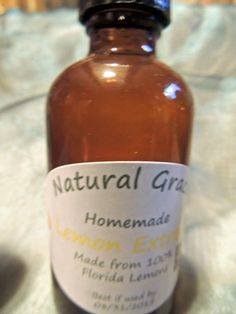 Natural Grace Products Extra Strength Pure Lemon Extract All Natural & Organic #NaturalGraceProducts