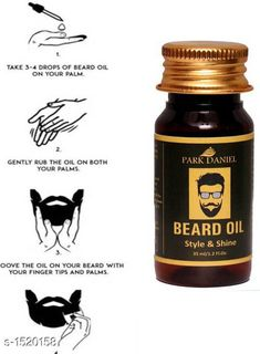 Men's Grooming Standard Choice Hair Care Oil   *Product Name* Park Daniel Park Daniel Beard Oil for Beard hair Growth  *Brand Name* Park Daniel  *Product Type* Oil  *Capacity* 35 ml  *Package Contains* It Has 1 Pack Of  Fragrance Beard Oil  *Sizes Available* Free Size *   Catalog Rating: ★4.2 (289)  Catalog Name: Make Up Park Daniel Premium Choice Hair Care Oil Vol 1 CatalogID_197684 C51-SC1662 Code: 061-1520158-