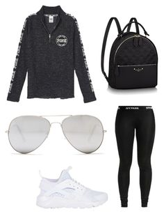 """"" by jaeherring14 on Polyvore featuring Victoria's Secret, NIKE and Sunny Rebel"