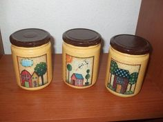 potes pintados artesanalmente por una forera de facilisimo foro de manualidades