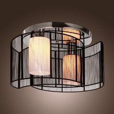LightInTheBox® Black Semi Flush Mount with 2 Lights, Mini Style Chandeliers Modern Ceiling Light Fixture for Hallway, Dining Room, Living Room LightInTheBox http://smile.amazon.com/dp/B008710JQE/ref=cm_sw_r_pi_dp_K032ub1M27P5P