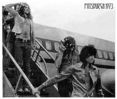 Led Zeppelin in Pittsburgh, 1973.