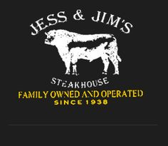 Nothing fancy.  Good meat.  Great price/portion, and free Neil Diamond loung act if you're lucky!  Quality establishment! Home >> Jess & Jim's Steak House , 517 E 135th St Kansas City, Missouri 64145, Tel: (816) 941-9499