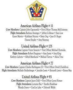 September 11, 2001 Flights