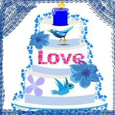 Blue Love Cake