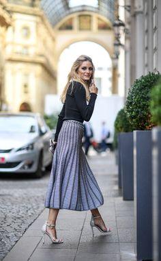 printed knit midi skirt