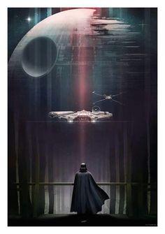 Vader, waiting on Endor.  A beautiful print.