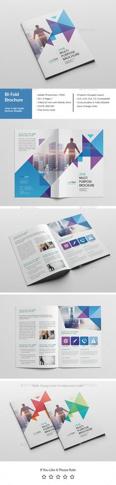Corporate BiFold Brochure Template   Brochure Template
