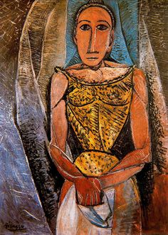 Woman with yellow shirt, 1907 Pablo Picasso - by style - Cubism - WikiArt.org