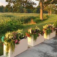 PVC Planters: Large Rectangular Outdoor Self-Watering Planter Boxes Long Planter Boxes, Rectangular Planter Box, Outdoor Planter Boxes, Brick Planter, Large Outdoor Planters, Tall Planters, Patio Planters, Modern Planters, Modern Patio