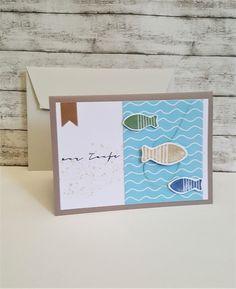 Glückwunschkarten - Taufkarte FISCHE & Wellen  - ein Designerstück von POMMPLA bei DaWanda