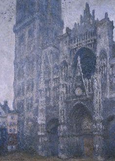 Rouen Cathedral, Facade and the Tour d'Albane. Grey Weather, Claude Monet, 1894
