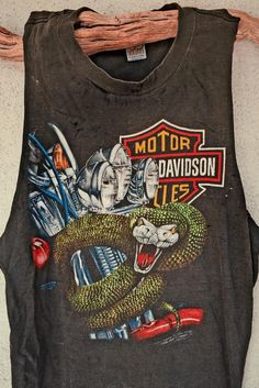 Snakes In Omaha Authentic 3D Emblem Harley Davidson Muscle Tee