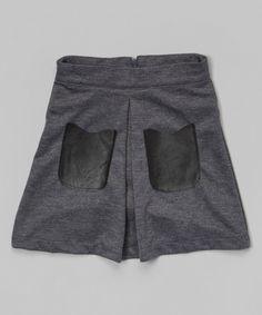 Look at this Grey Pocket Skirt - Toddler