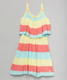 This Georgia Peach Stripe Layered Dress - Infant, Toddler & Girls by U.S. Polo Assn. is perfect! #zulilyfinds