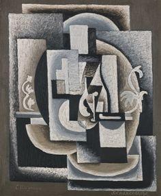 SERGE CHARCHOUNE (1888 - 1975)  CUBISME ORNEMENTAL