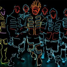 Hanfeng new design LED Costume /LED Clothing/LED Robot suits for stage show