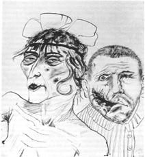 Otto Dix, Two Victims of Capitalism, 1923
