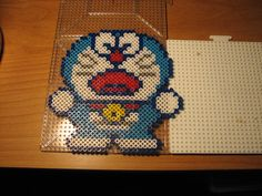 Doraemon perler beads by ndbigdi on deviantart
