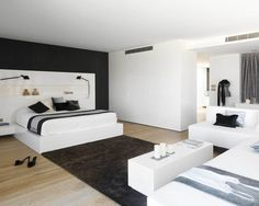 Awesome Modern Bedrooms Decoration Ideas: Admirable Black