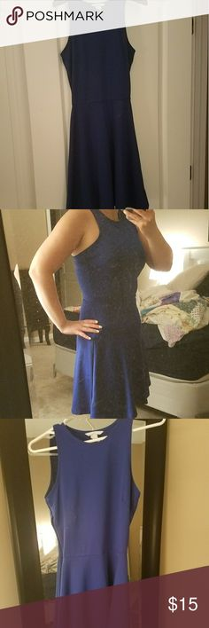 SUNDAY SALE H&M Royal Blue Skater Dress Worn twice. It is in like new condition. H&M Dresses